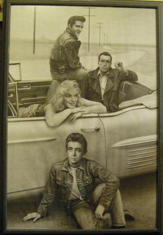 Marilyn Monroe James Dean Elvis Presley Humphrey Bogart