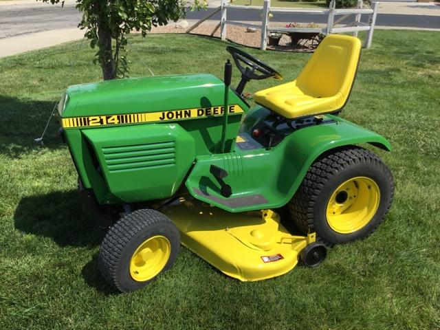John Deere 214 >> 1982 John Deere 214 Garden Tractor Nex Tech Classifieds