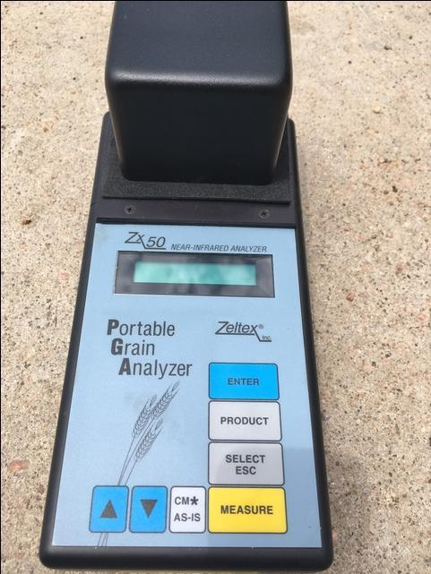For Sale: Zeltex ZX-50 Portable Grain Analyzer