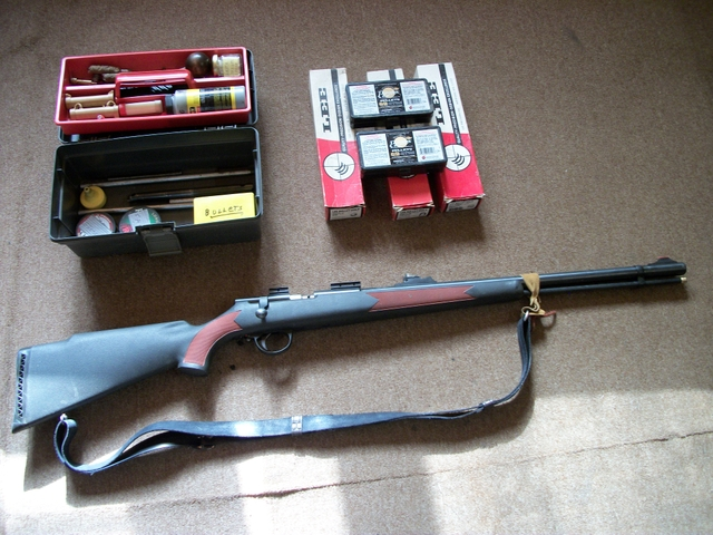 SOLD - CVA BOLT ACTION IN-LINE 45 CAL  MUZZLELOADER RIFLE